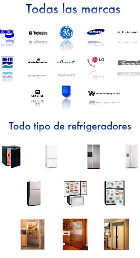 Todas las marcas y todos los tipos de refrigerador